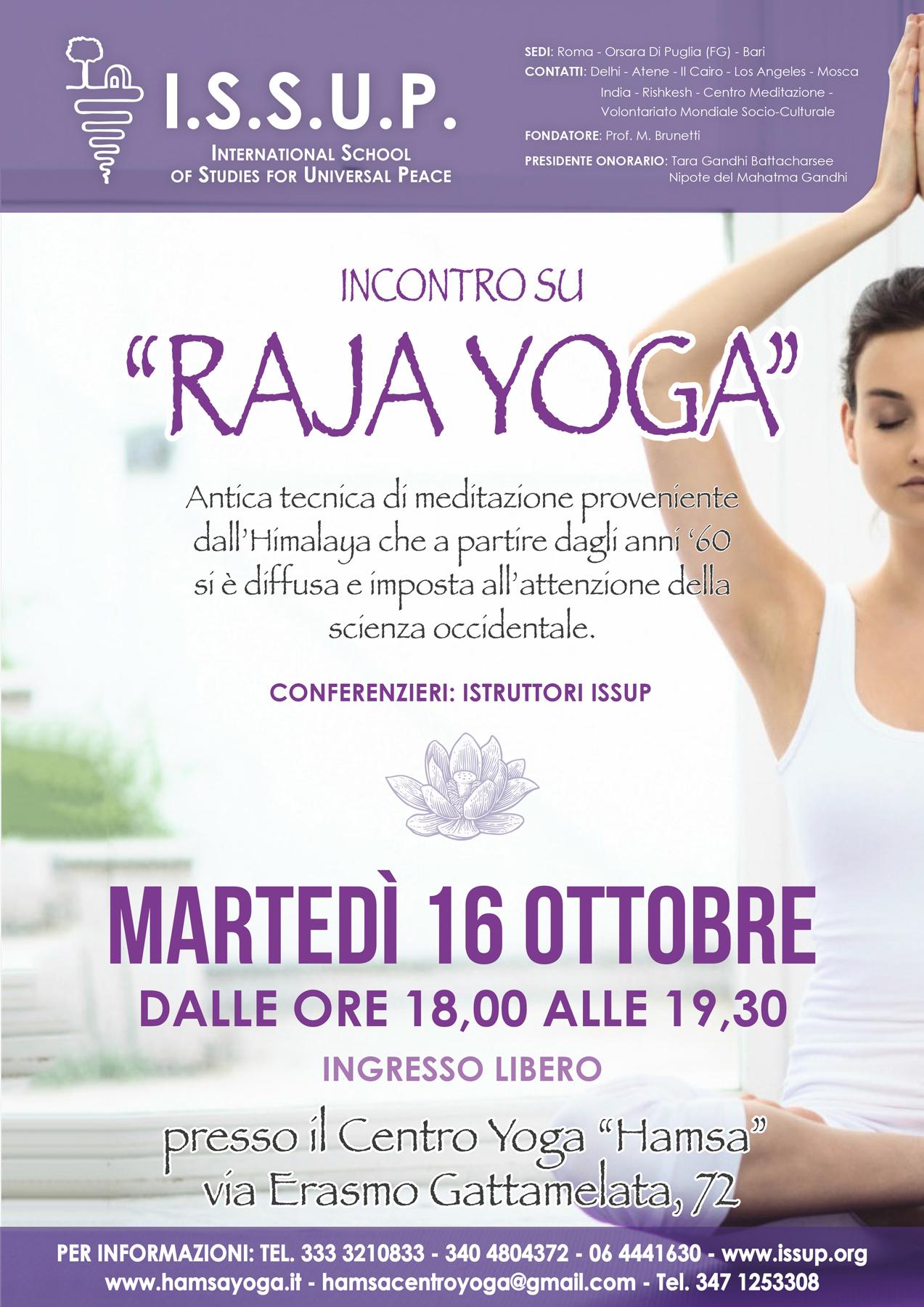 Raja Yoga - yoga della meditazione