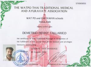 diploma massaggi thai